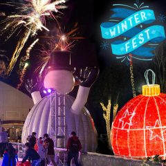 Santa and His Reindeer Fly Over the Fairgrounds as Winter Fest OC Returns