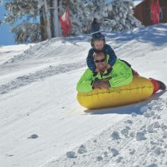 Big Bear Snow Play has a 4 to 15 Foot Base with Eight Runs Open